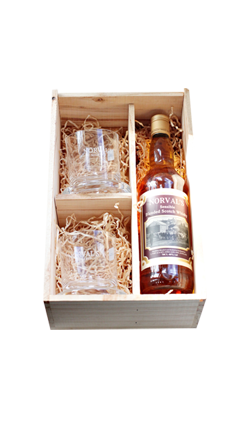 Whisky Gift Box with Glasses Norvals Sensible Gift Box