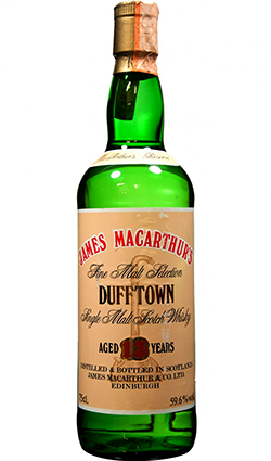 Dufftown 13 Yr Old James Macarthurs 1978
