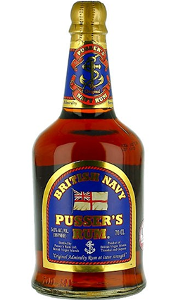 British Navy Pussers Gunpowder Proof Rum