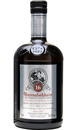 Bunnahabhain 16 Year Old Manzanilla Sherry Wood Finish